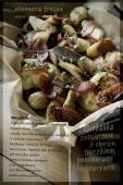 zapiekanka ziemniaczana z boczkiem, chorizo i pomidorami